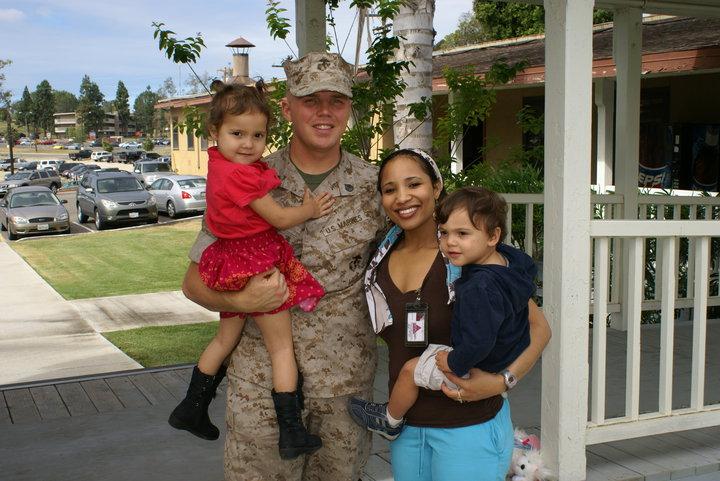 Family marines kids