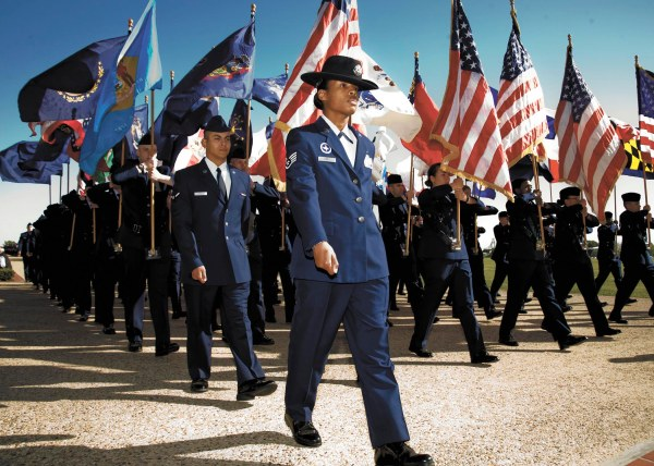 air force basic marching formation