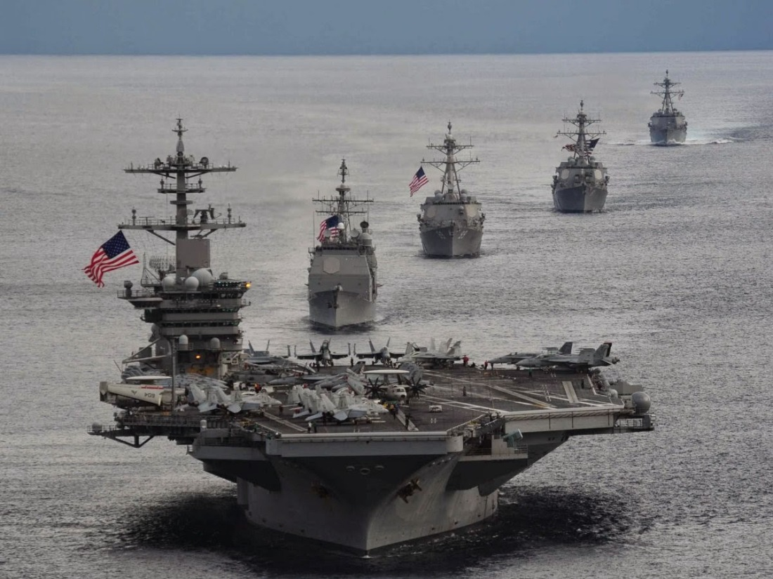 navy carrier battle group ships