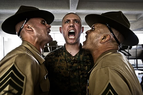 Drill Instructors screaming