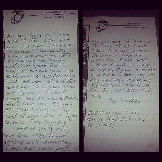 Recruits letters from week one.jpg
