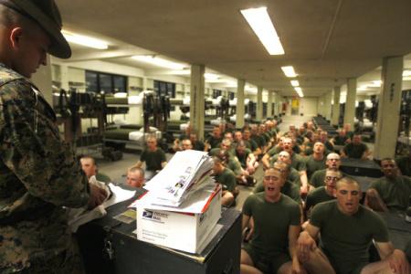 basic training recruit training boot camp mail call