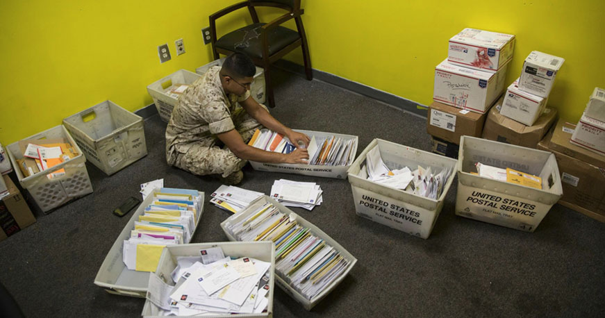 holidays schedule impact on letters mailed to basic training boot camp recruit training