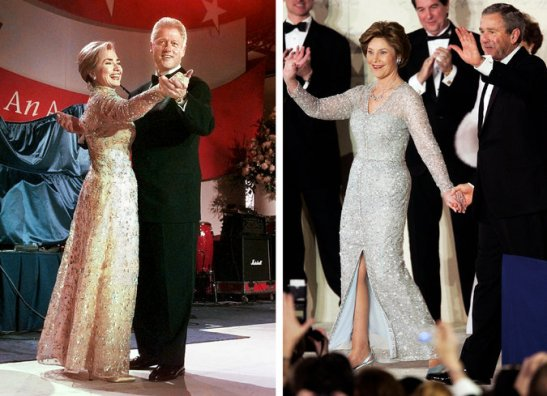 the clintons and the bushes at inaugural ball