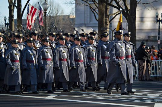 West Point cadets march in presidential inauguration parade