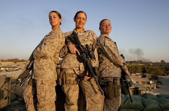 women infantry Marines join their unit at Camp Lejeune