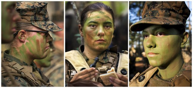 first women infantry marines