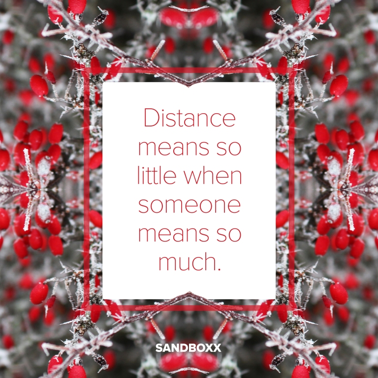 distancemeansolittlewhensomeanssomuch